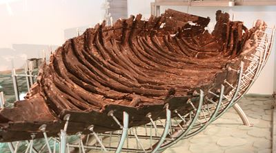 Remains of a first century Galilean boat